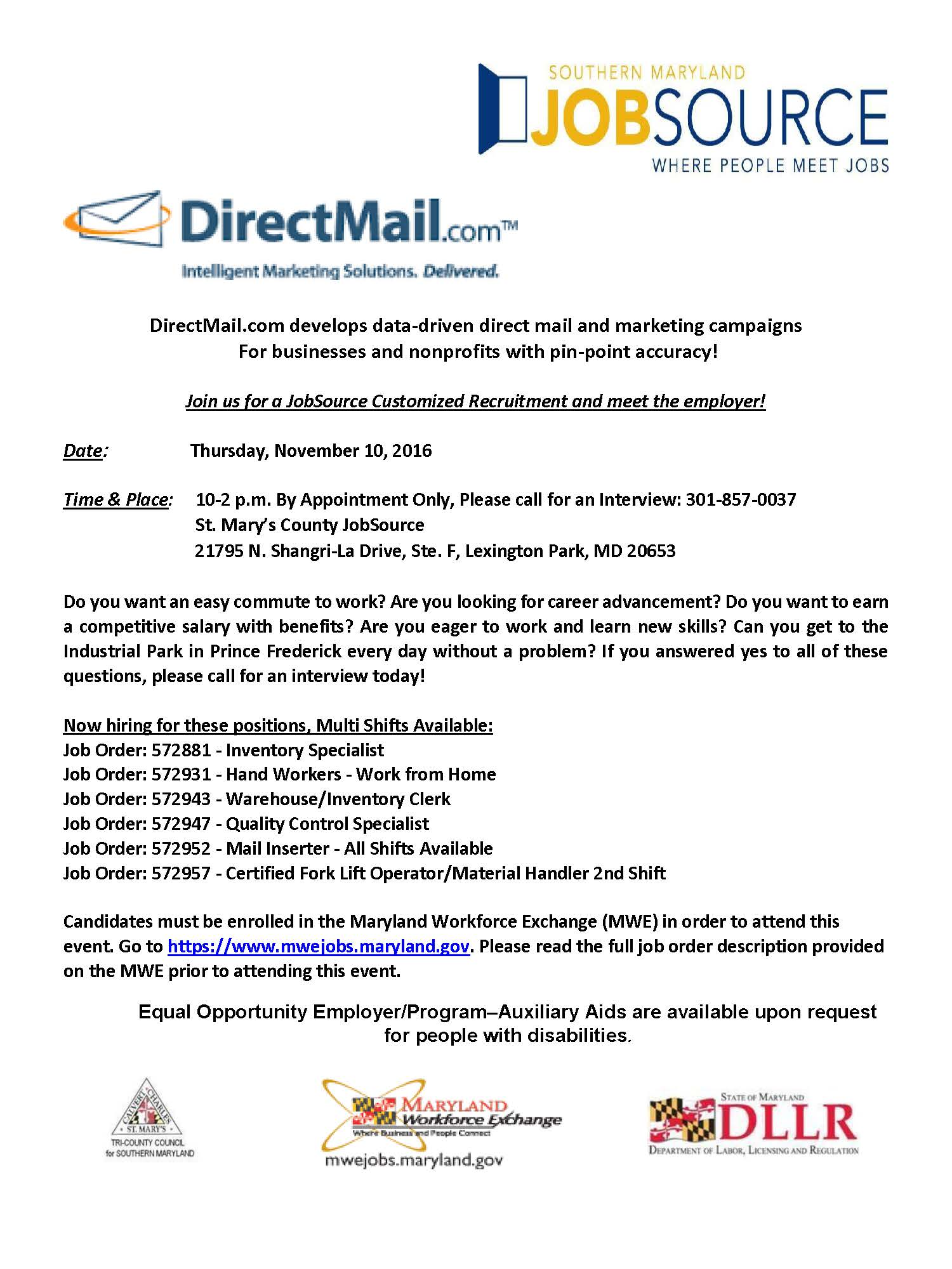 direct-mail-recruitment-flyer